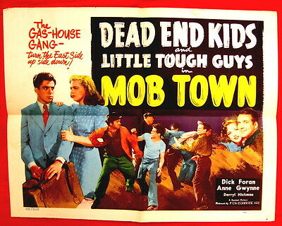 Mob Town 1948 half sheet movie poster Dead End Kids style B