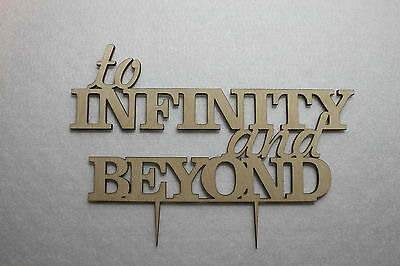 Cake Topper Custom To Infinity and Beyond Wedding  -Anniversary  Cake Topper