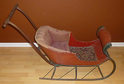 Antique Child Winter Carriage Sleigh
