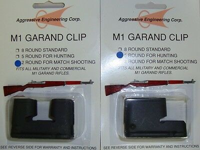 M1 Garand Clips 2 & 5 Rd Combo Pack New US Made by AEC