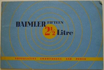 Daimler Fifteen DB18 2½ Litre Saloon & Cabriolet 1938-39 Original UK Brochure