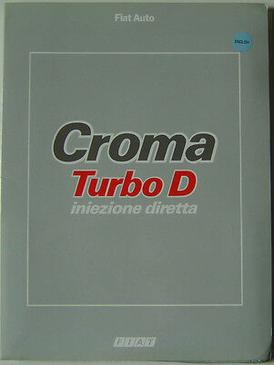 Fiat Croma Turbo D Direct Injection 1988 Original Launch Press Pack In English