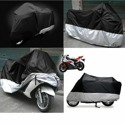 Motorcycle Waterproof Outdoor Vented Bike Scooter Dust Rain Cover UV Protector