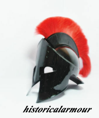 Medieval King Leonidas Helmet Roman Helm Spartan 300 Movie Helmet RED PLUME """"