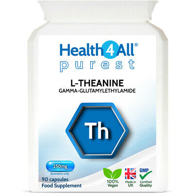 Health4All L-Theanine 250mg Capsules - STRESS, FOCUS, RELAXATION, LEARNING