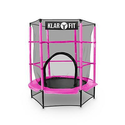 Pink 4.5 Ft Trampoline Jumping Spring Cover Childrens Safety Net Kids Gift Idea