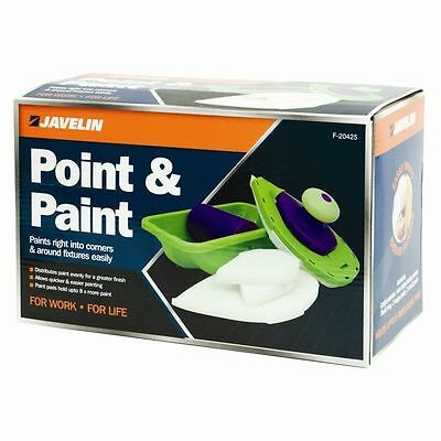 Point And Paint N Replacement Large & Small Pads DIY Painting Kit Roller Set NEW