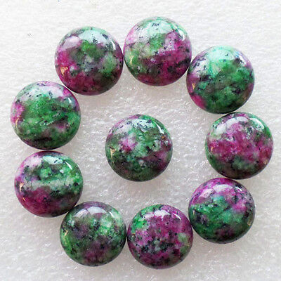 10Pcs Wholesale Ruby in Fuchsite Round 16x6mm CAB CABOCHON M823