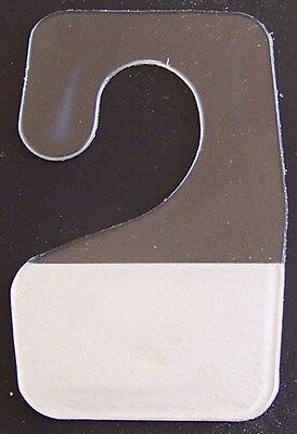 50 Clear Plastic Self Adhesive Stick Hook Hang Tabs Tag Hangers * 12 Oz * Limit