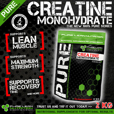 Pure 2Kg Creatine Monohydrate Hplc Tested *Workout Enhancer