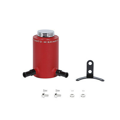 Mishimoto Aluminium Power Steering Reservoir Tank - Wrinkled Red