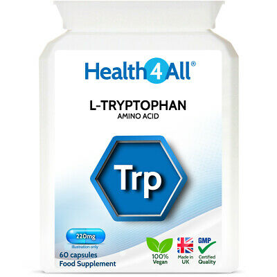 Health4All L-Tryptophan 500mg Capsules | RELAXATION | SEROTONIN BOOST | SLEEP