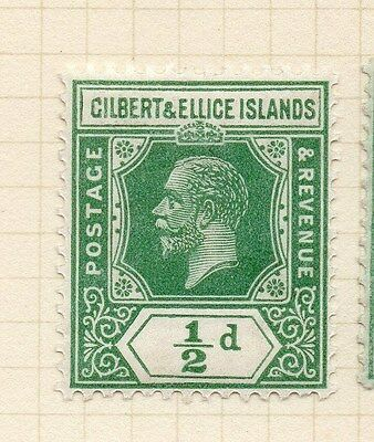 Gilbert Ellice Islands 1912 Early Issue Fine Mint Hinged 1/2d. 138248