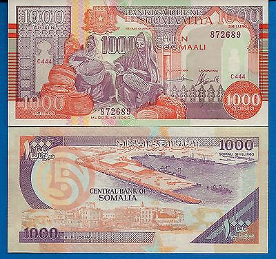 Somalia P-37a 1000 Shillings Year 1990 Uncirculated Banknote Africa