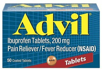 Advil Pain Reliever/Fever Reducer 200 mg 50 Tablets