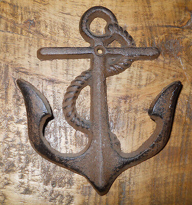 2 Cast Iron Nautical Ship Anchor Towel, Coat Hooks, Hat Hook, Key Rack Ships