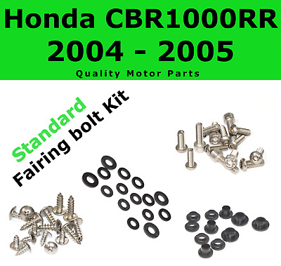 Fairing Bolt Kit body screws fasteners for Honda CBR 1000 RR 2004 2005 Stainless