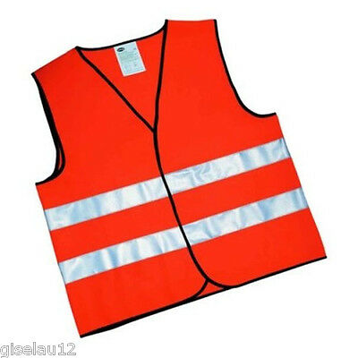 High Visibility Vest for Adults Orange High Visibility Vest CE ISO 20471