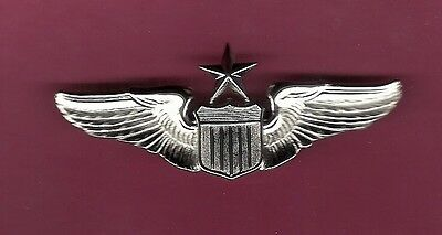US Air Force Senior Pilot Wings Badge  USAF with Mirror Finish
