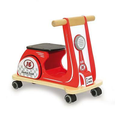 NEW Indigo Jamm Wooden Toddler Ride On Trike Bike - Scooter Racing Red