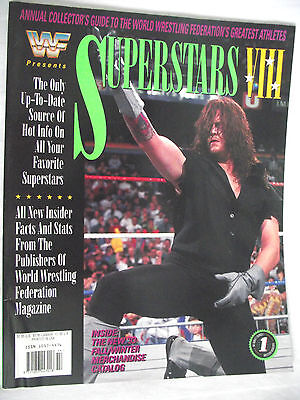 Wwe Wwf Presents Superstars 8 Magazine The Undertaker Very Good / Nm / L1