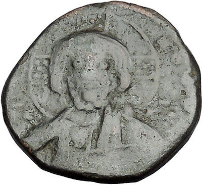 JESUS CHRIST Class A2 Anonymous Ancient 1025AD Byzantine Follis Coin i50094