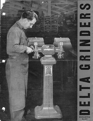 Delta Rockwell Grinders Bulletin A-23 Instructions
