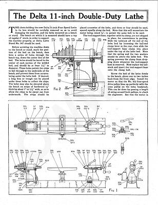Delta Rockwell The 11-inch Double-Duty Lathe Instructions