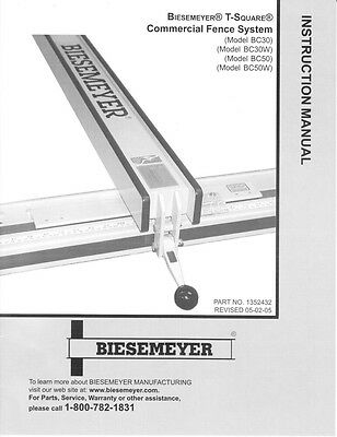 Delta Rockwell Biesemeyer T-Square Commercial Fence Instructions