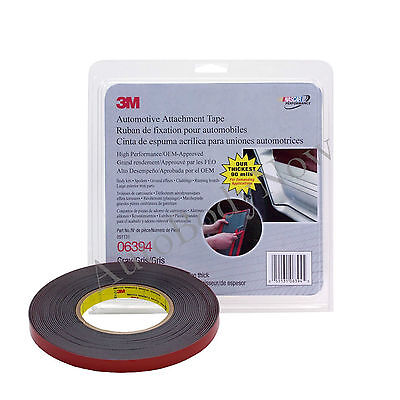 """3M 06394 Attachment Adhesive Tape, 90 mil Thick, 10 yds x 1/2"""" (3m 6394) GREY"""