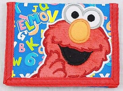 Trickle Me Elmo Alphabet Tri-Fold Wallet-Embriordered Elmo Wallet-New W/ Tags!
