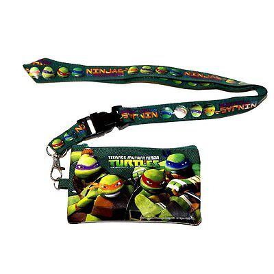 Green Teenage Mutant Ninja Turtles Detachable Coin Pouch/wallet/purse & Lanyard