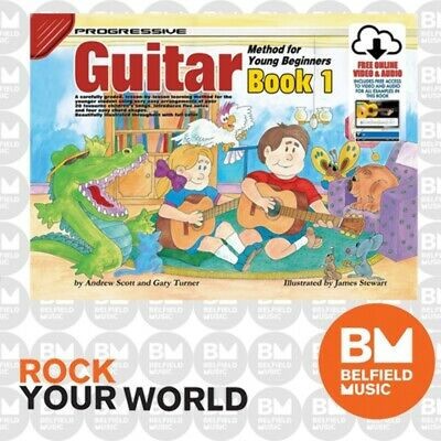 Progressive 18322 GUITAR for Young Beginners Learning Book 1 Free DVD/CD KPYG1CP