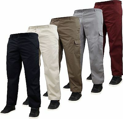 New Mens Hutson Harbour Elasticated Rugby Combat Cargo Work Loose Fit Trousers