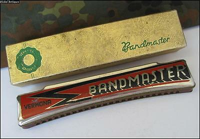 Wwii Original German Boxed Mouth Harmonica - Vermona Bandmaster