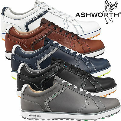 """40% Off"" Ashworth Cardiff 2 Adc Leather Spikeless Street Waterproof Golf Shoes"