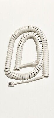 New Universal 12' Handset Curly Cord (off white color) for Panasonic Phone