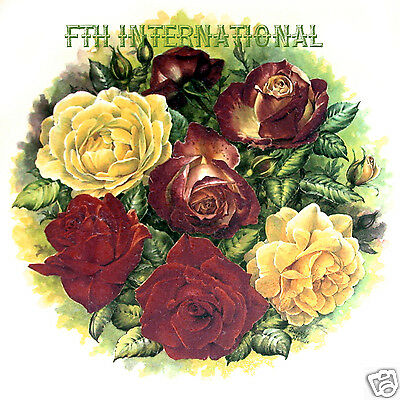 """F04 - Rose Bouquet Ceramic Decal #A, Large 7 1/2"""" Round Plate Size, Flowers, Red"""
