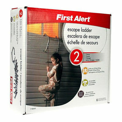 New First Alert Two Story 14 Foot Fire Escape Ladder EL52-2 New in Box!