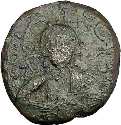 JESUS CHRIST Class A2 Anonymous Ancient 1025AD Byzantine Follis Coin i50129