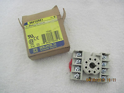 SQUARE D 8501NR51 Relay Socket - NOS