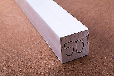 ALUMINIUM Square Bar 40, 50 or 65mm Various Lengths 6106T6 FREE POSTAGE