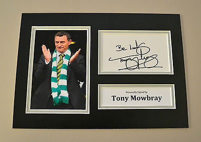 Tony Mowbray Signed A4 Photo Autograph Display Glasgow Celtic Memorabilia + COA