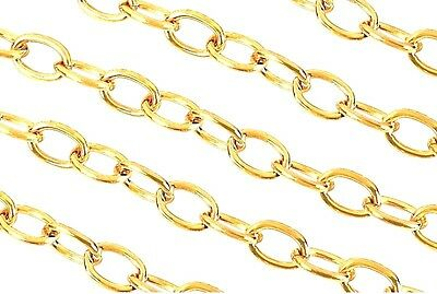Wholesale Gold Plated Cable Chain Jewellery Making Findings - 5mm - lady-muck1