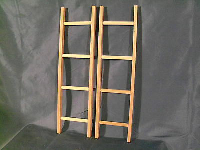New 2 OAK wooden Ladders pedal car fire trucks  MURRAY , AMF SAD FACE other
