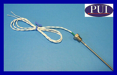 Probes Unlimited Pt100 Temperature Sensor Probe RTD Stainless 1/8 NPT Teflon