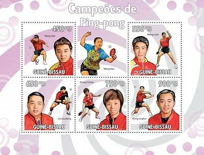 Table Tennis Champions m/s Guinea-Bissau 2009 MNH Mi.4474-78 #GB9611a