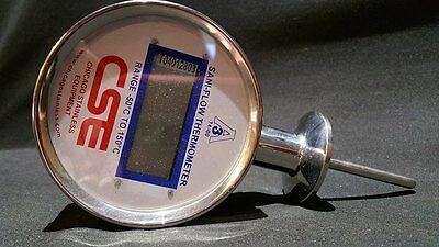 Sani-Flow Thermometer Chicago Stainless Equipment CSE -50 to 150C Digital