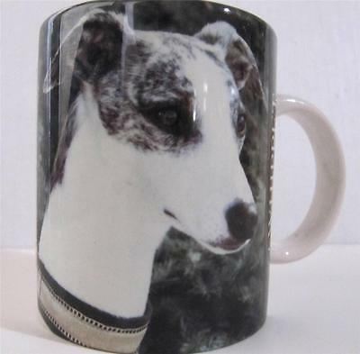 Whippet Dog Coffee Mug Cup Barbara Augello Design Holds 8 oz.