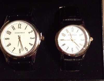 Ensemble His and Her Watch Gift Set with Box